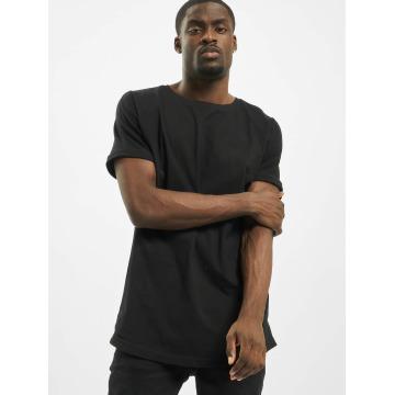 Urban Classics Tall Tees Long Shaped Turnup negro