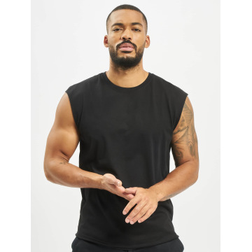 Urban Classics Tank Tops Open Edge Sleeveless schwarz