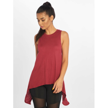 Urban Classics Top Ladies HiLo Viscose rojo