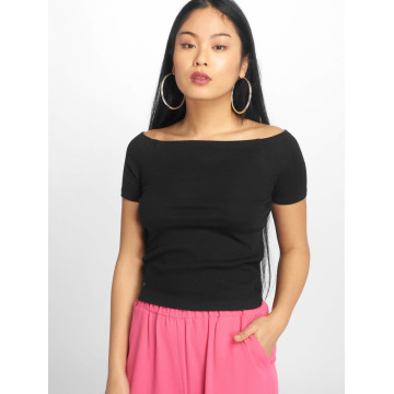 Urban Classics Tops Off Shoulder Rib nero