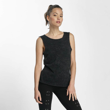 Urban Classics Tops Crinkle Wash Back Cut nero