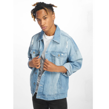 Urban Classics Transitional Jackets Ripped Denim blå