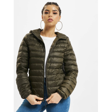 Urban Classics Transitional Jackets Basic Hooded Down oliven