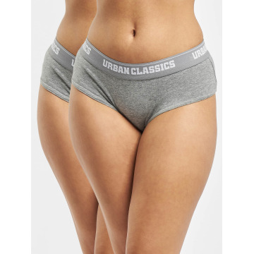 Urban Classics Underwear Ladies Double Pack Logo gray