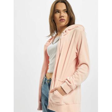 Urban Classics Vetoketjuhupparit Ladies Velvet roosa