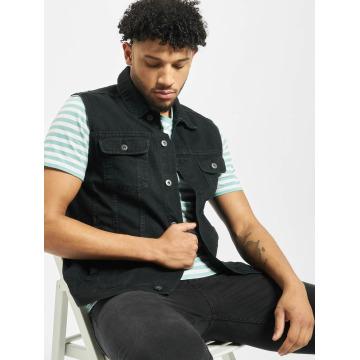 Urban Classics Weste Denim Vest schwarz
