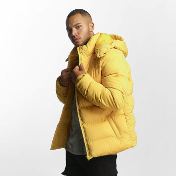 Urban Classics Winter Jacket Hooded Boxy Puffer yellow