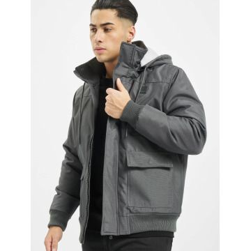Urban Classics Winterjacke Heavy Hooded grau