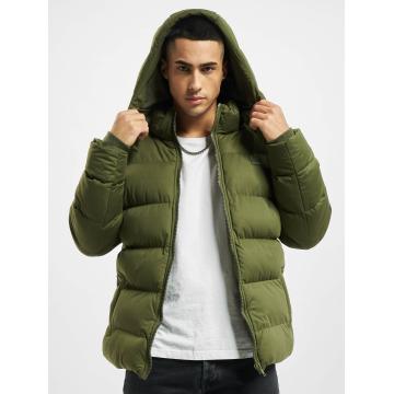 Urban Classics winterjas Hooded Boxy Puffer olijfgroen