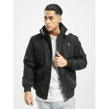 Urban Classics winterjas Heavy Hooded zwart
