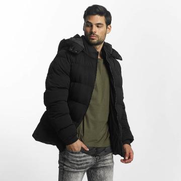Urban Classics winterjas Hooded Boxy Puffer zwart