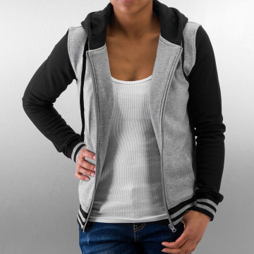 Urban Classics Zip Hoodie Ladies 2-Tone College grå