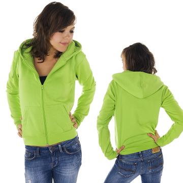 Urban Classics Zip Hoodie Ladies green