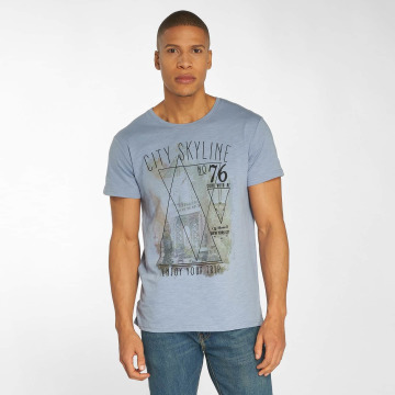 Urban Surface t-shirt Skyline blauw