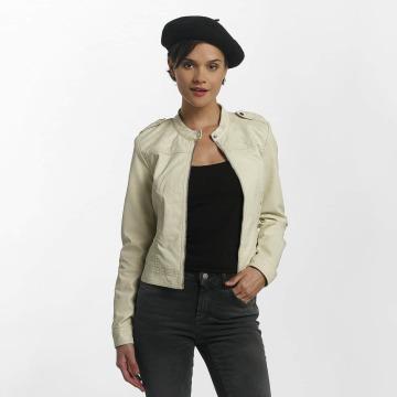 Vero Moda Chaqueta de cuero vmAlice Short Faux Leather beis