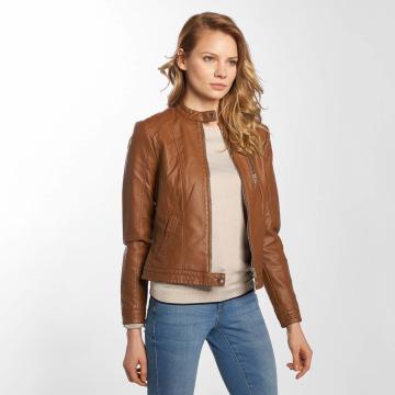 Vero Moda Leather Jacket vmCalifornia brown