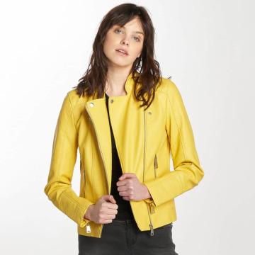 Vero Moda leren jas vmKerry geel