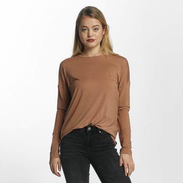 Vero Moda Maglietta a manica lunga vmBava marrone