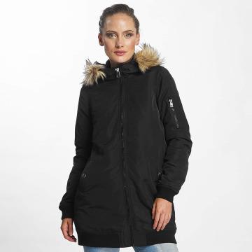 Vero Moda Płaszcze vmDicte Fake Fur 3/4 czarny