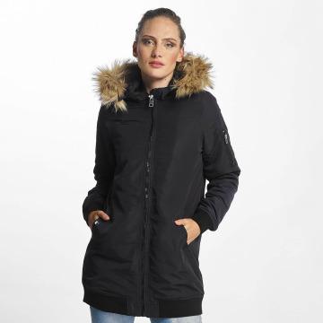 Vero Moda Płaszcze vmDicte Fake Fur 3/4 niebieski