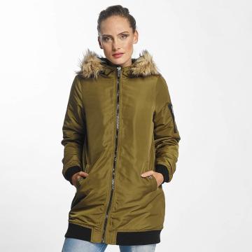 Vero Moda Płaszcze vmDicte Fake Fur 3/4 J oliwkowy