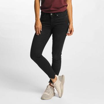 Vero Moda Skinny Jeans vmSeven Hem schwarz