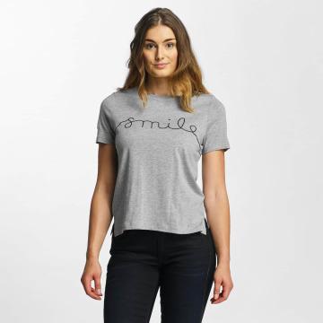 Vero Moda T-Shirt vmAnn Smile gray