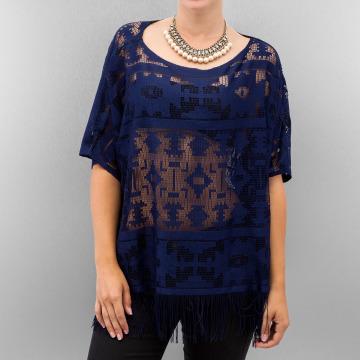 Vero Moda T-shirt Anja Fringe Lac indigo