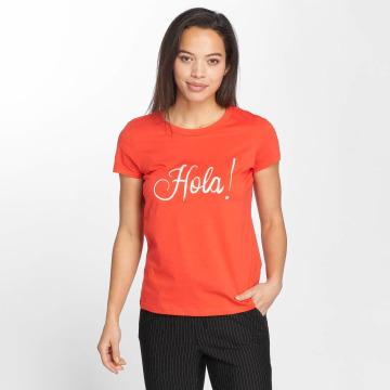 Vero Moda T-Shirty vmLola czerwony