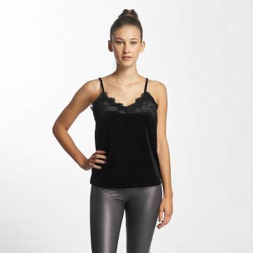 Vero Moda top vmAnjela Velvet Singlet zwart
