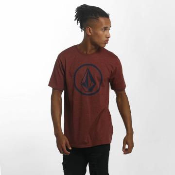 Volcom Camiseta Circle Stone rojo
