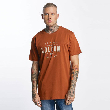 Volcom T-Shirty Garage Club brazowy