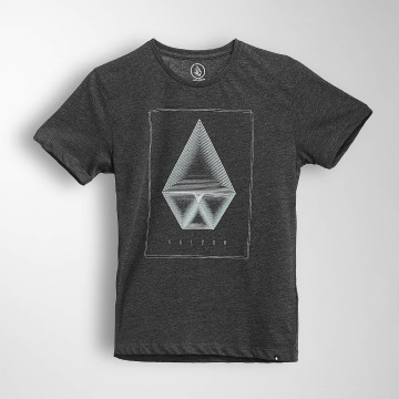 Volcom T-Shirty Concentric Hth czarny