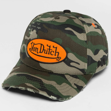 Von Dutch Snapback Caps Camo Destroyed moro