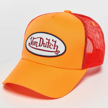 Von Dutch Trucker Caps Neon oranžový