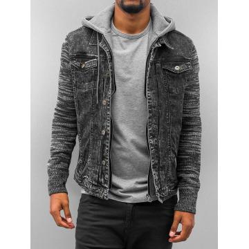 VSCT Clubwear Демисезонная куртка Hybrid Denim черный