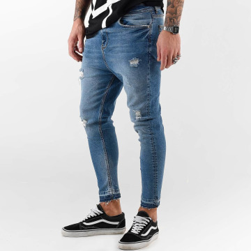 VSCT Clubwear Облегающие джинсы Keanu Vintage Kneetcut `84 синий