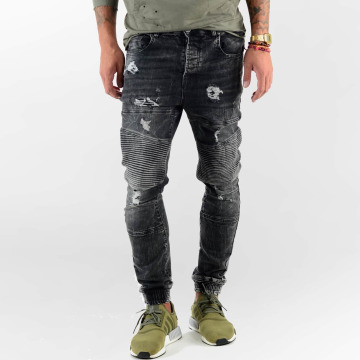 VSCT Clubwear Dżinsy straight fit Noah Biker czarny