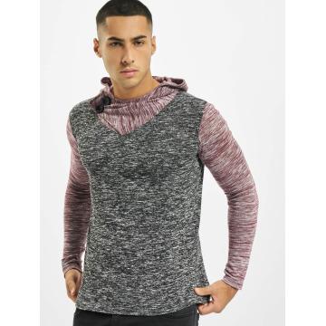 VSCT Clubwear Hoodie 2 Btn Hooded Moulinee 2 Colour röd