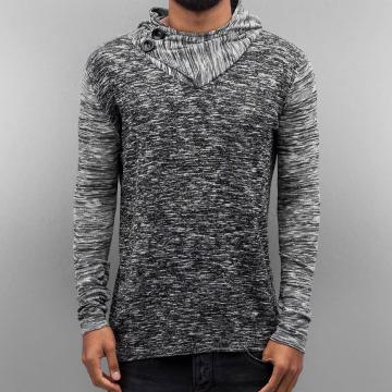 VSCT Clubwear Hoody 2 Btn Hooded Moulinee 2 Colour grau