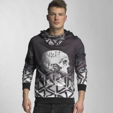 VSCT Clubwear Hoody Twisted Skull Matix grau