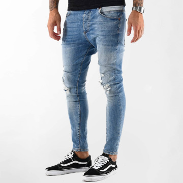 VSCT Clubwear Jean carotte antifit Thor Destroyed bleu