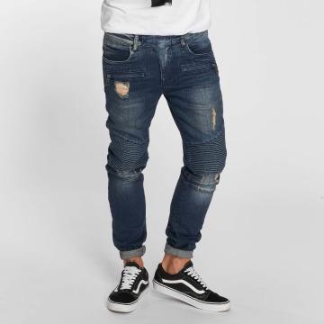 VSCT Clubwear Jean slim Liam Biker bleu