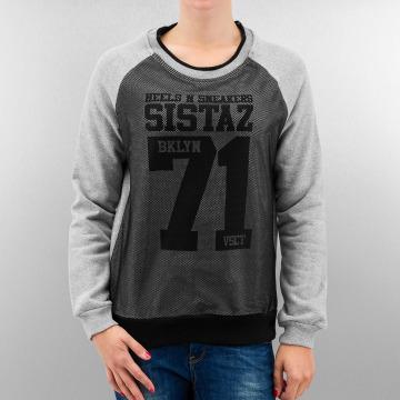 VSCT Clubwear Jumper BKLYN Sistaz Mesh grey