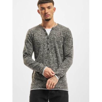 VSCT Clubwear Maglietta a manica lunga Buttoned Double Optic grigio