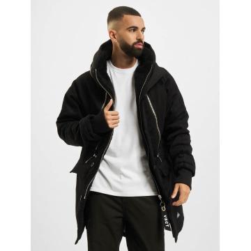 VSCT Clubwear Manteau hiver Double Zipper Huge Luxury noir