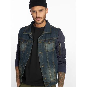 VSCT Clubwear Prechodné vetrovky Bomber Sleeves modrá