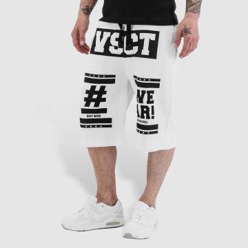 VSCT Clubwear Shorts Logo Hashtag weiß