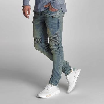 VSCT Clubwear Skinny jeans Liam Biker blå