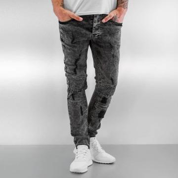 VSCT Clubwear Skinny Jeans Lazer Racer czarny